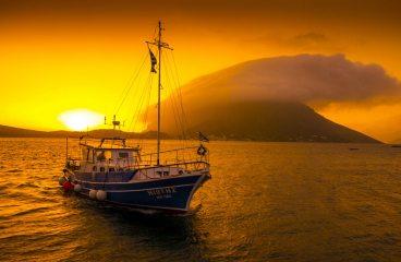 Kalymnos: sunset over Telendos