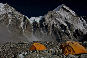 A chilly night at Everest Base Camp.