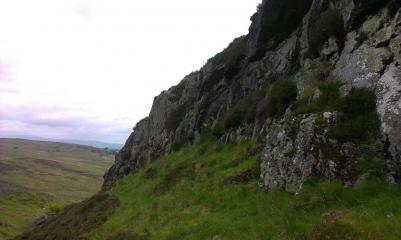 Looking north along the crags