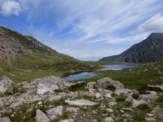 Cwm Idwal from the base of the Idwal Slabs