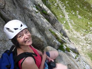 From the belay at the top of Pitch 1, Ordinary Route