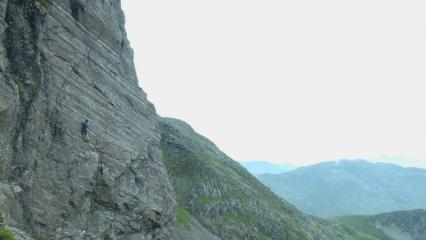 Caff @05:20 on FastBurn E2 5b Flat crags route 7 of his '100 Extremes in the Lakes in day' journey