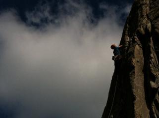 Climbing Bochlwyd Eliminate ,