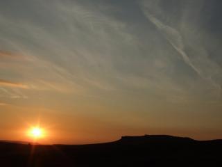 sunset over higger tor