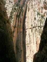 Catwalk, El Chorro, from railway tunnel