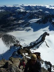 Dad enjoying his 60th Birthday present and first alpine route