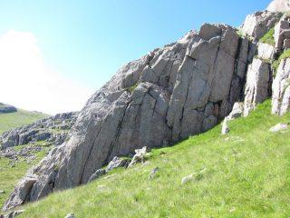 Diamond Wall area (location of 'Jilted John' etc.) Upper Gaitkins.