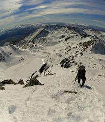 Winter on the North East Ridge of Single Cone