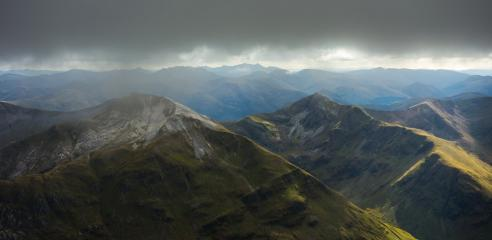 View towards the Mamores from the CMD Arete