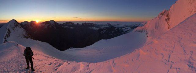 Dawn, Nadelhorn N-E Ridge.