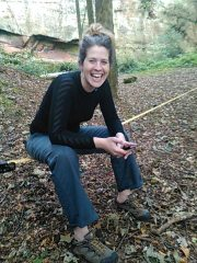 Taking a break during a slacklining session at Nesscliffe