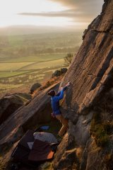 Christmas Day bouldering at Eastby