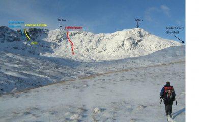 Winter topo, Coire Ghaidheil, Glen Affric