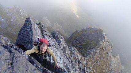 Frank high on Howling Ridge