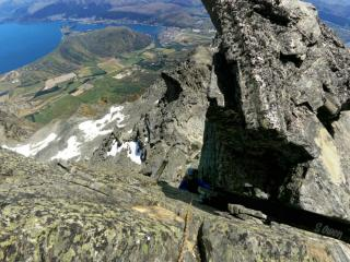 On the 'crux' pitch of the summer traverse