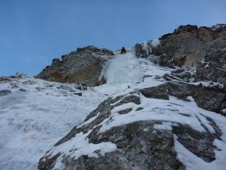 Graham Penny on the steep part of pitch 1, Still Game IV4