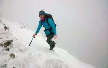 topping out of Striding Edge