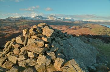 The Beacon looking towards the Coniston Fells