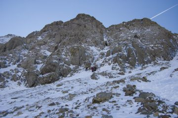 Central Gully on Brown Cove Crags