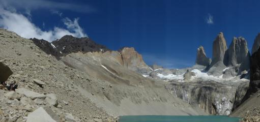 Torres del Paine, a sunny January