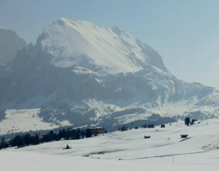 Marmolada from my snowshoes.