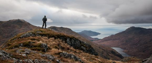 Chris Kilcoin surveys the beauty of Knoydart
