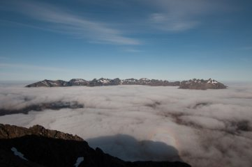Inversion on Day 1 of the Greater Traverse - Cuillin Ridge from Clas Glach