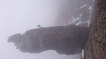 Abseiling off the Inaccessible Pinnacle