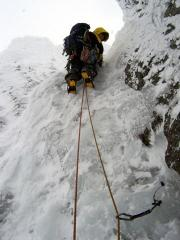 Stuart on 4th pitch of Green Gully