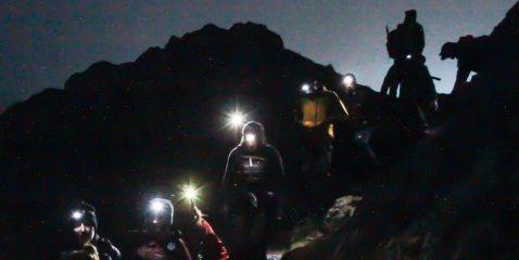 150 head torches light up Blencathra, 32 kb