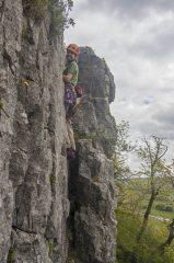 Satisfaction at Hawkswick Crag