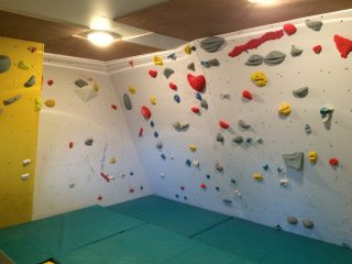 My garage bouldering wall in St Neots