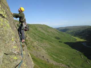 The traverse on pitch 3.