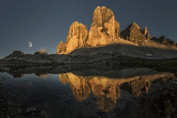 Sunset at the Tre Cime