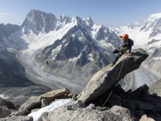 Summit of Aguille de Moine via classic south ridge route