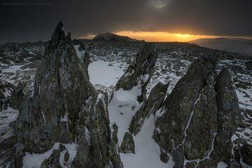 Dawn on Glyder Fach, Glyderau range, North Wales