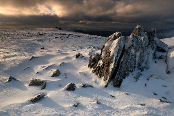 Rocks over Glyder Fawr, Snowdonia, Wales