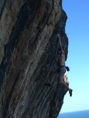 sticking the redpoint crux on Tuppence