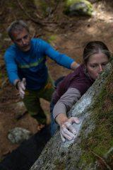 Bouldering at Les Bossons, Chamonix