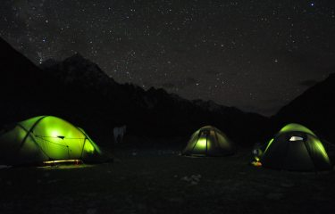 Basecamp in the Rongdo Valley