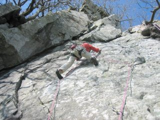 Heartline -the crux moves- Mike Raine leading