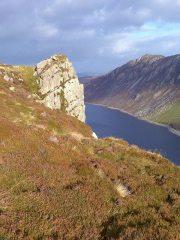 Pen Llithrig y Wrach crag approach