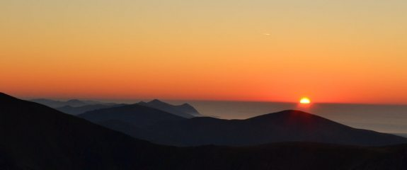 Sunset from Pen Yr Ole Wen