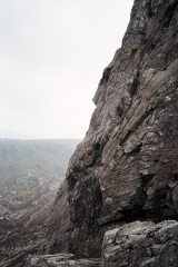 Belle Vue Bastion (photo from the Knight's move belay of grooved arete, I think).