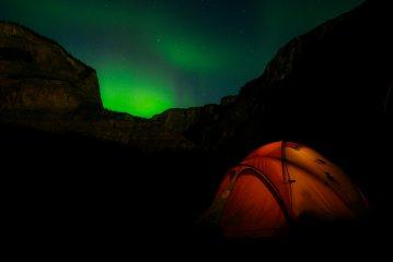 Northern Lights, Nahanni national Park, NWT