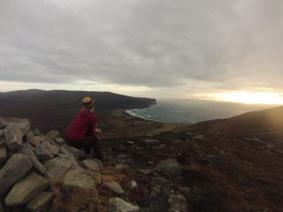Leah sat atop Moor Fea, Hoy