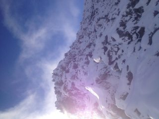 Morning sun on Bristly Ridge