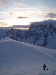 Descending to the Col du Midi