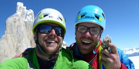Matt and Tom on the summit of Aguja Bifida, 53 kb