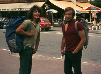 John Syrett and Gordon Stainforth, Chamonix 1972.